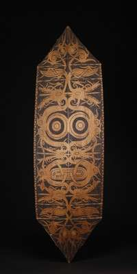 INDO585 : Dayak Painted Shield